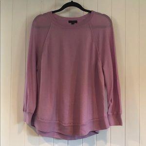 J.Crew Merino Wool Swing Sweater - Lilac - XL